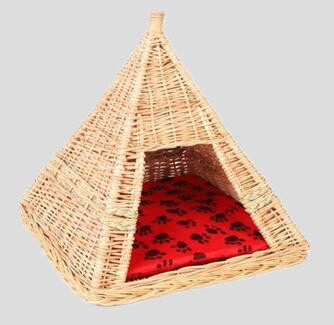 dog bed,pet bed,cat bed,made of willow with pillow