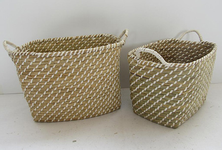 storage basket,gift basket,fruit basket,made of sea grass