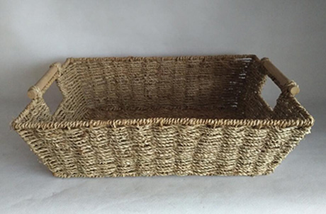 storage basket,gift basket,fruit basket,made of seagrass