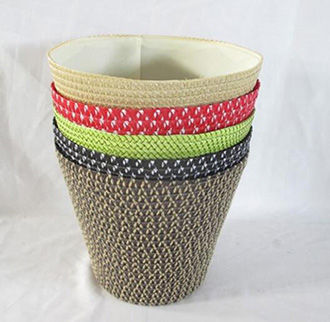 storage basket,laundry basket,made of pp straw with liner